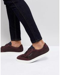 Ted Baker - Phranco Suede Detail Trainers - Lyst