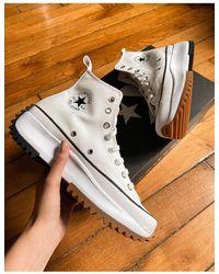 Converse Run Star Hike Hi Sneakers - White