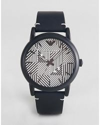 Emporio Armani - Ar11136 Luigi Leather Watch - Lyst