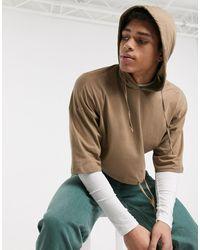 ASOS Hoodie en jersey léger coupe carrée - Multicolore