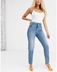 G-Star RAW 3301 - Jaren 90 Mom Jeans Met Hoge Taile - Blauw