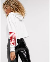TOPSHOP Collegiate Hoody - White