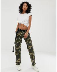 Dickies Pantalon style militaire avec poches et motif camouflage - Vert