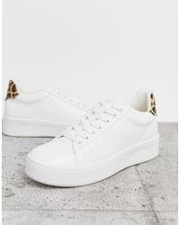 Public Desire Panther - Sneakers con dettagli leopardati - Bianco