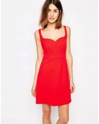Warehouse - Sweetheart Neck Bonded Dress - Lyst