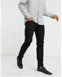 SELECTED Jean slim en coton biologique - Noir