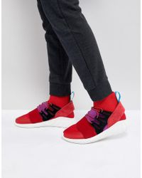 adidas Originals - Tubular Doom Winter Trainers In Red By9397 - Lyst