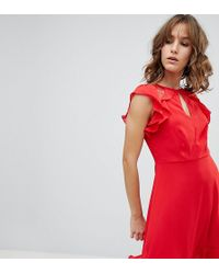 New Look - Ruffle Dress - Lyst
