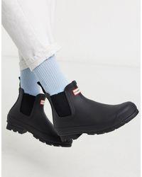 HUNTER Черные Ботинки Челси Original-черный