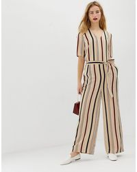 SELECTED Femme Stripe Jumpsuit With Wide Leg-multi - Multicolour