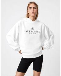 AllSaints Белый Свободный Худи С Логотипом Unite Jen