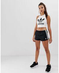 adidas Originals Черные Шорты С Тремя Полосками Adicolor-черный