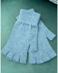 ASOS – Fingerlose Handschuhe - Grau