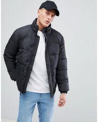 Bershka - Puffer Jacket In Black - Lyst