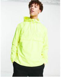 Calvin Klein Анорак С Логотипом Сзади -желтый