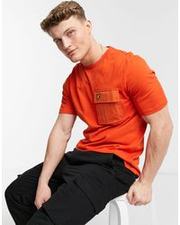 Lyle & Scott T-shirt con tasca - Arancione