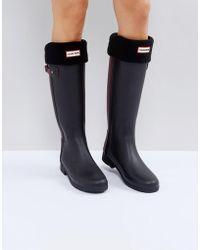 HUNTER Chaussettes de bottes montantes - Noir