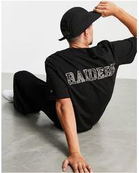 KTZ Las Vegas Raiders Baseball Shirt - Black