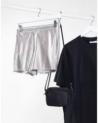 Weekday Run Mini Shorts - Metallic
