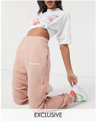 Collusion Joggers rosas pálidos extragrandes - Multicolor