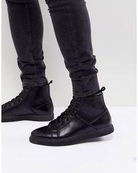 ASOS Черные Ботинки Из Искусственной Кожи - Черный
