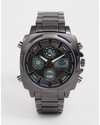 Steve Madden Digitaal Herenhorloge Met Zwarte Wijzerplaat