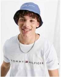 Tommy Hilfiger Синяя Панама С Логотипом -голубой - Синий