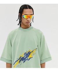 Noak T-shirt oversize à motif artistique brodé - Vert