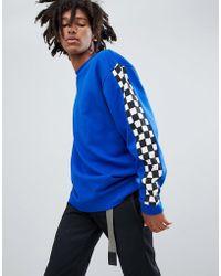 ASOS - Oversized Sweatshirt With Checkerboard Print - Lyst