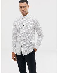 Ted Baker Белая Рубашка В Горошек - Белый