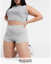 Fashionkilla Серые Облегающие Шорты -серый