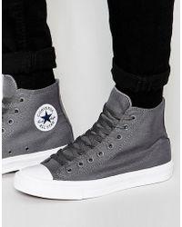 Converse - Chuck Taylor All Star Ii Hi-top Plimsolls In Grey 150147c - Lyst