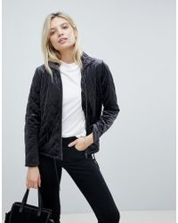 B.Young - Velvet Quilted Jacket - Lyst