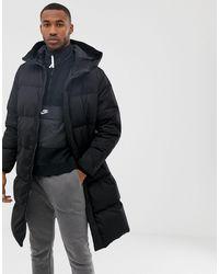 Pull&Bear Longline Puffer Jacket - Black