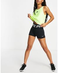 Nike Черные Шорты С Большим Логотипом Nike Pro Training-черный