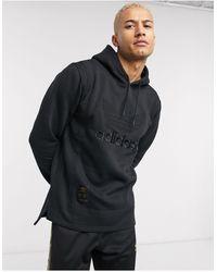 adidas Originals Superstar warm up - Hoodie - Noir