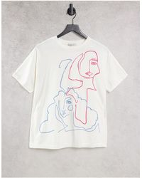 Pull&Bear Pull & Bear Graphic Logo T-shirt - White