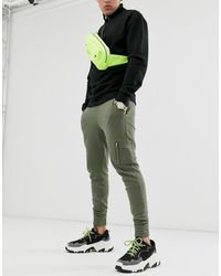 ASOS Joggers skinny avec poche style MA1 - Kaki - Vert