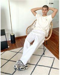 Nudie Jeans Co Uno Circle Logo T-shirt - White