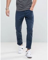 Esprit 5 Pocket Casual Trousers In Navy - Blue