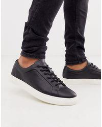 Jack & Jones Premium Faux Leather Sneaker - Black