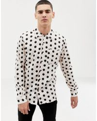 Bellfield - Shirt With Large Polka Dot In Pink - Lyst