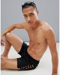Speedo Short de bain à imprimé style sport 16 pouces - Noir