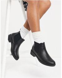 New Look Черные Ботинки-челси Из Искусственной Кожи С Крокодиловым Принтом -черный