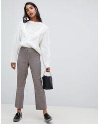 Vila - Check Tailored Pants - Lyst