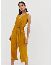 AX Paris Culotte Jumpsuit - Yellow