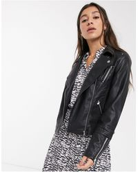 ONLY - Faux-leather Jacket - Lyst
