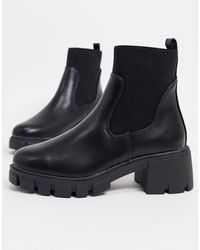 ASOS Robbie Chunky Chelsea Boots - Black