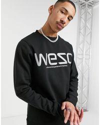 Wesc Miles - Sweat-shirt à logo réfléchissant - Noir