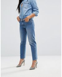 7 For All Mankind - High Waisted Vintage Look Straight Leg Jean - Lyst